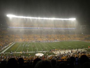 Rain at the Pittsburgh Steelers Game on August 14 2010